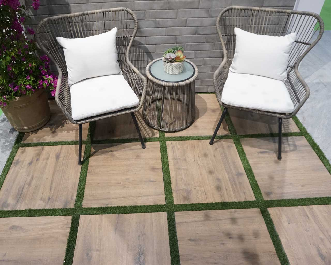 Terrassenplatten aus Feinsteinzeug in 2cm Stärke werden auch in den USA immer beliebter