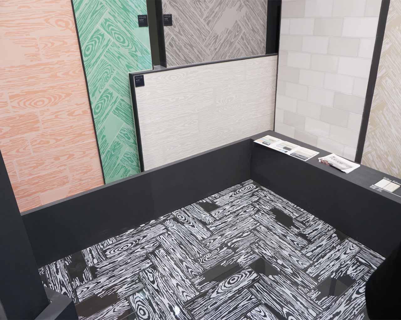 Holzoptik in Art Deco Farben - made for Miami