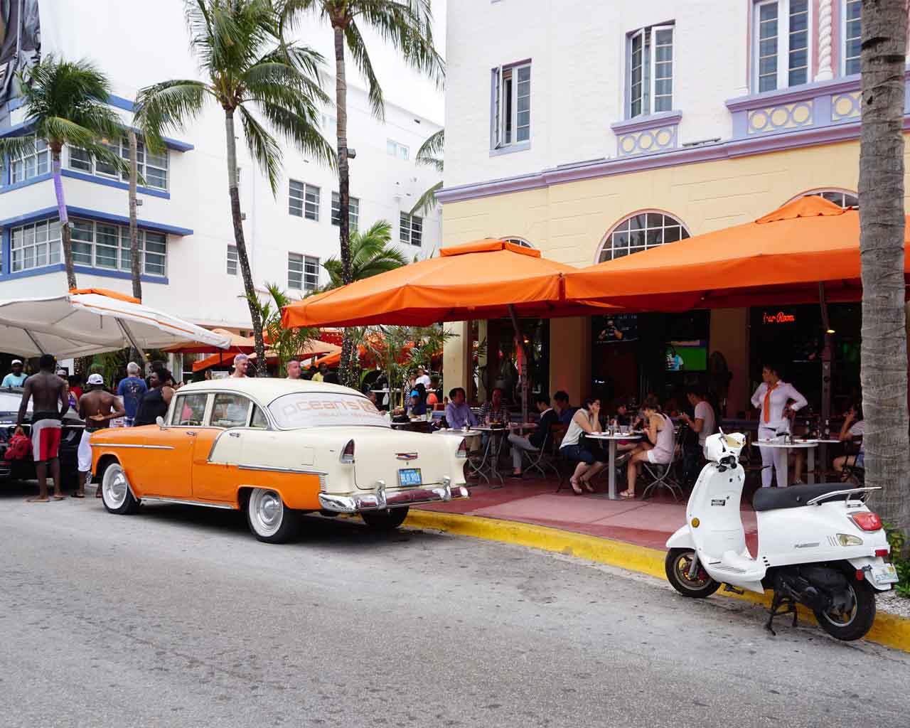 Szene am Miami Beach