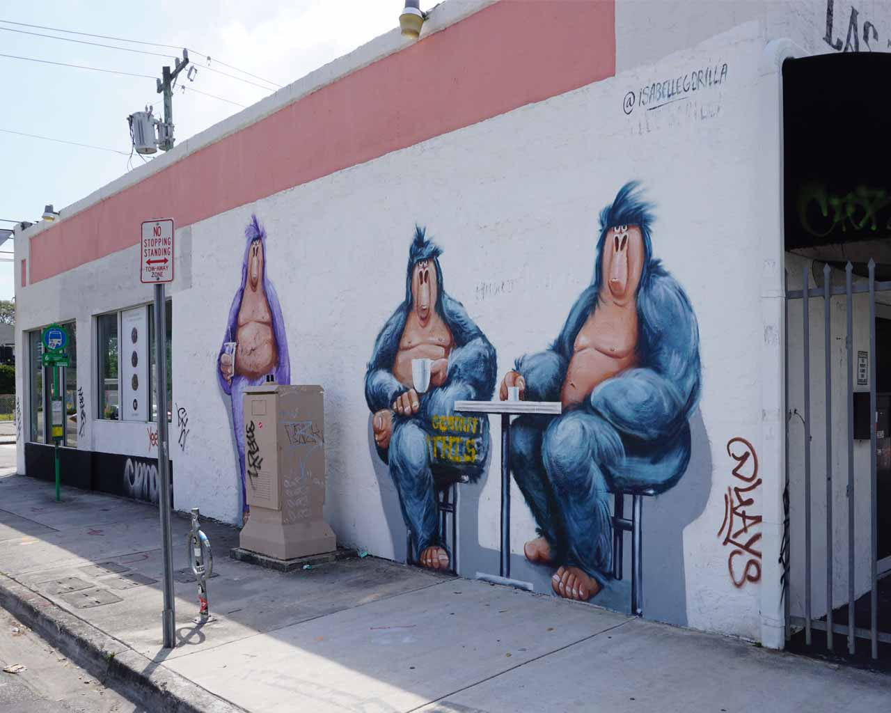 Kunst an einer Hausecke in Wynwood