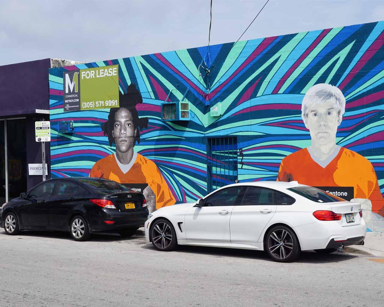 Kunst an einer Fassade in Wynwood