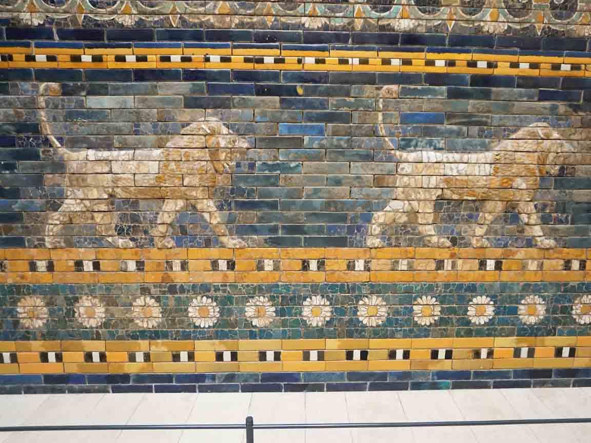 Mosaik aus Babylon im Pergamonmuseum in Berlin