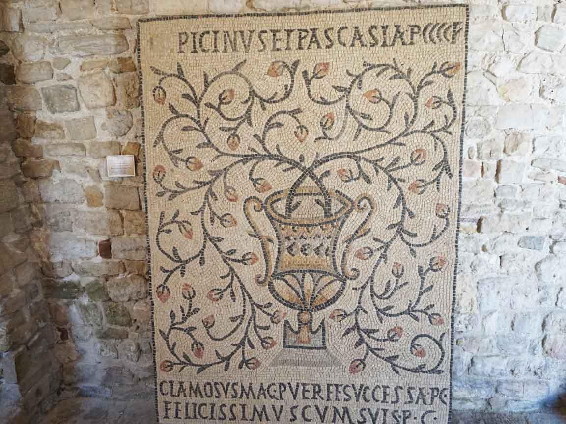 Antike römische Mosaike in der kroatischen Stadt Porec