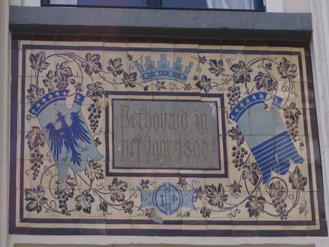 Fliesenbild auf einer Fassade in den Niederlanden