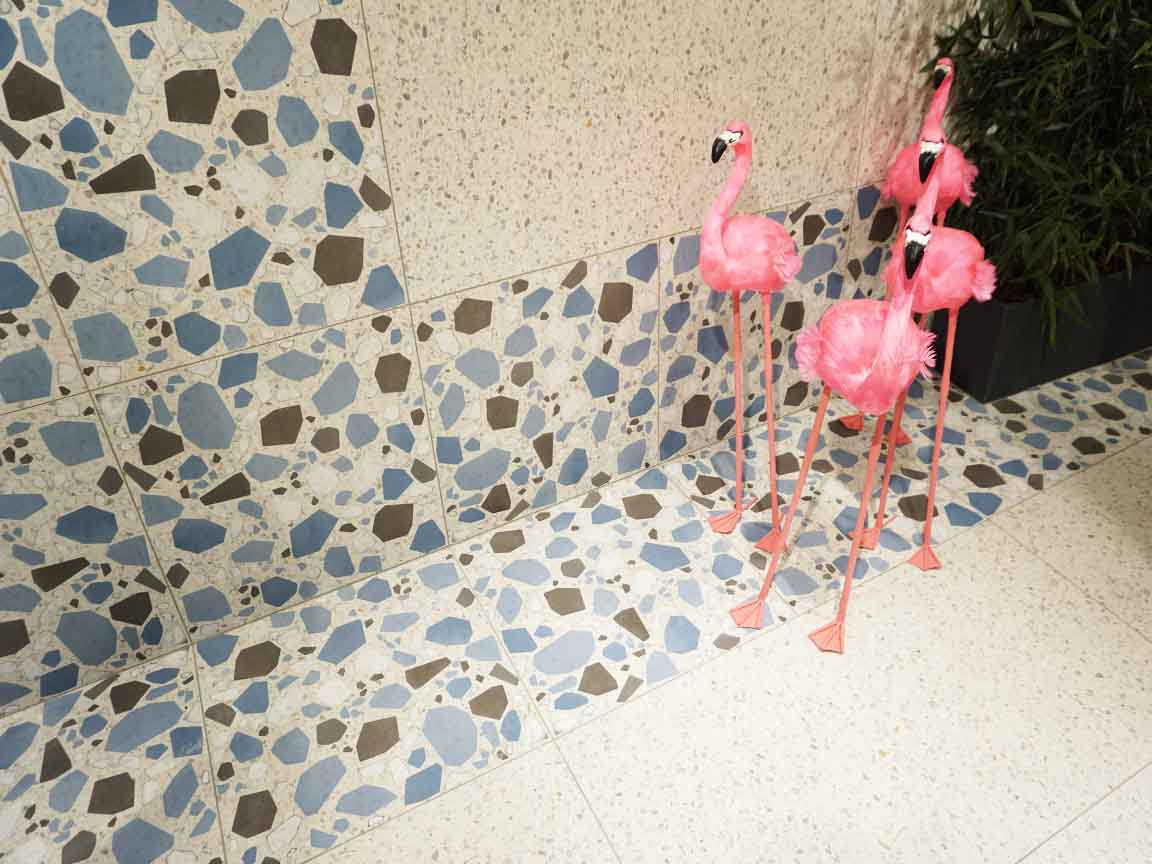 Cersaie 2017 : Tropical Feeling in Bologna mit einer Terrazzo-Imitation