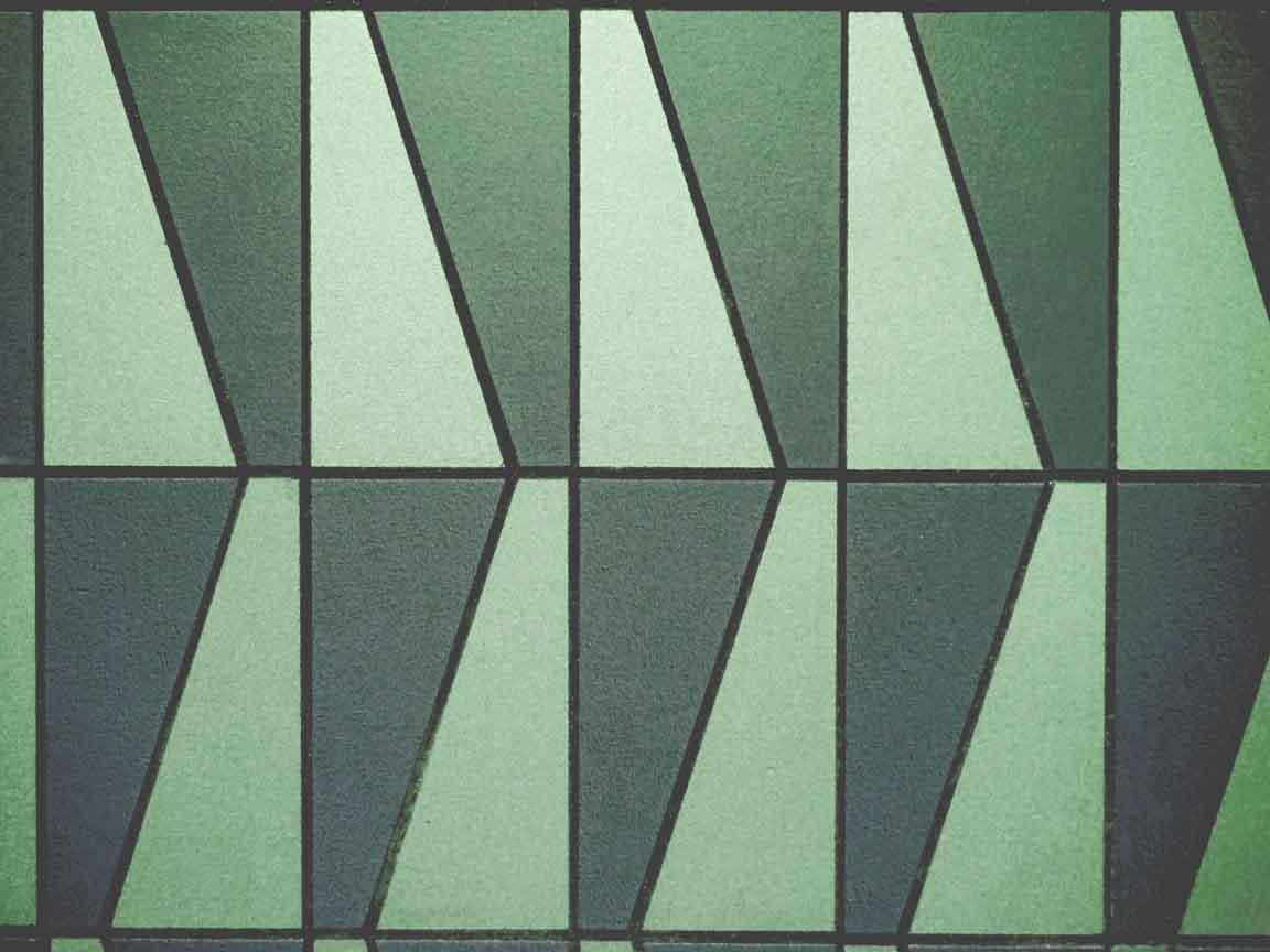 Cersaie 2017 : Dreieck-Wallart im Farbton Greenery