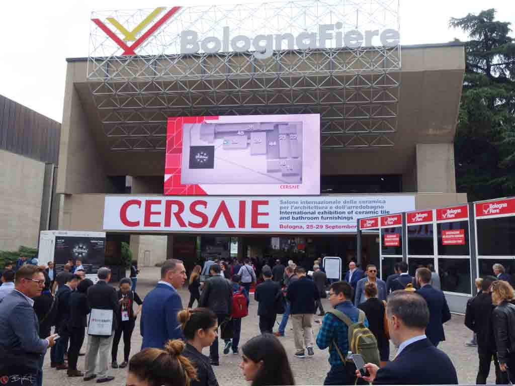 Cersaie 2017 in Bologna in Italien