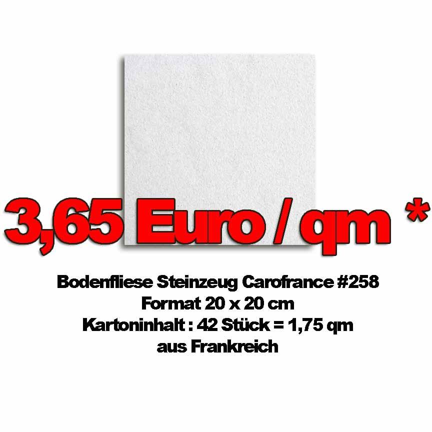 Bodenfliese Carofrance #258 zum Sonderpreis