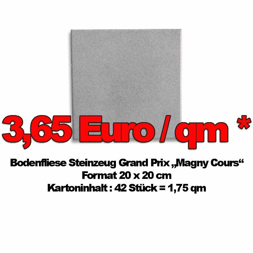 Bodenfliese GrandPrix Magny Cours, Format 20x20 zum Sonderpreis