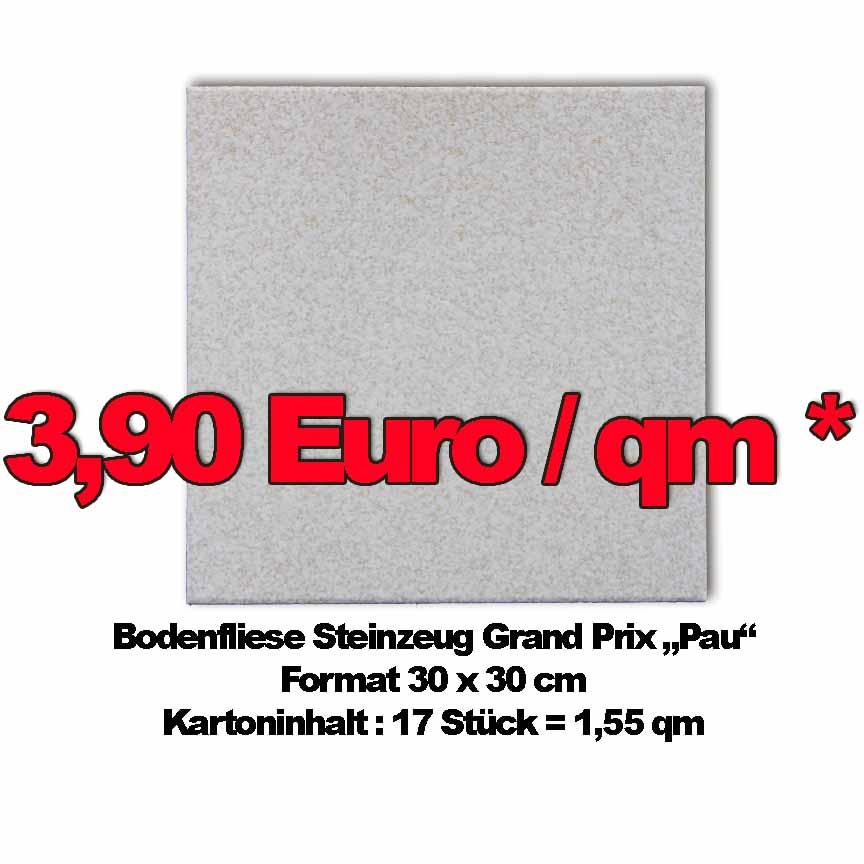 Bodenfliese Grandprix Pau , Format 30x30cm zum Sonderpreis