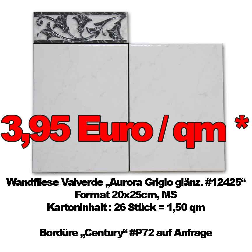 Wandfliese Valverde #12425, Format 20x25cm, MS