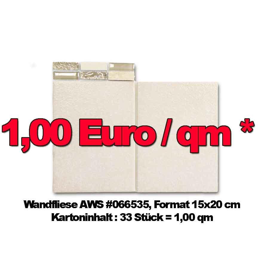 Wandfliese AWS #66535, Format 15x20cm
