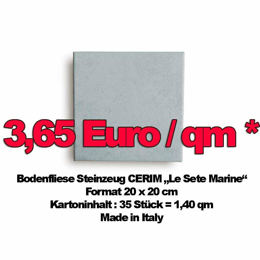 Bodenfliese CERIM LeSete Marine, Format 20x20cm