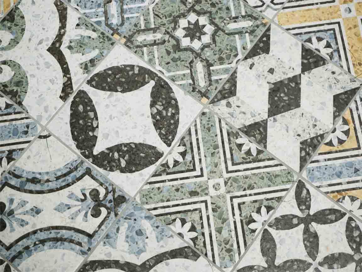 Cersaie 2017: Patchwork-Dekoration mit Terrazzo-Effekt