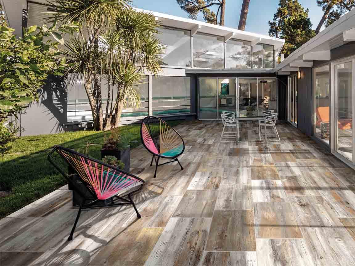 Outdoor-Holzoptik-Fliesen für die Terrasse oder den Balkon
