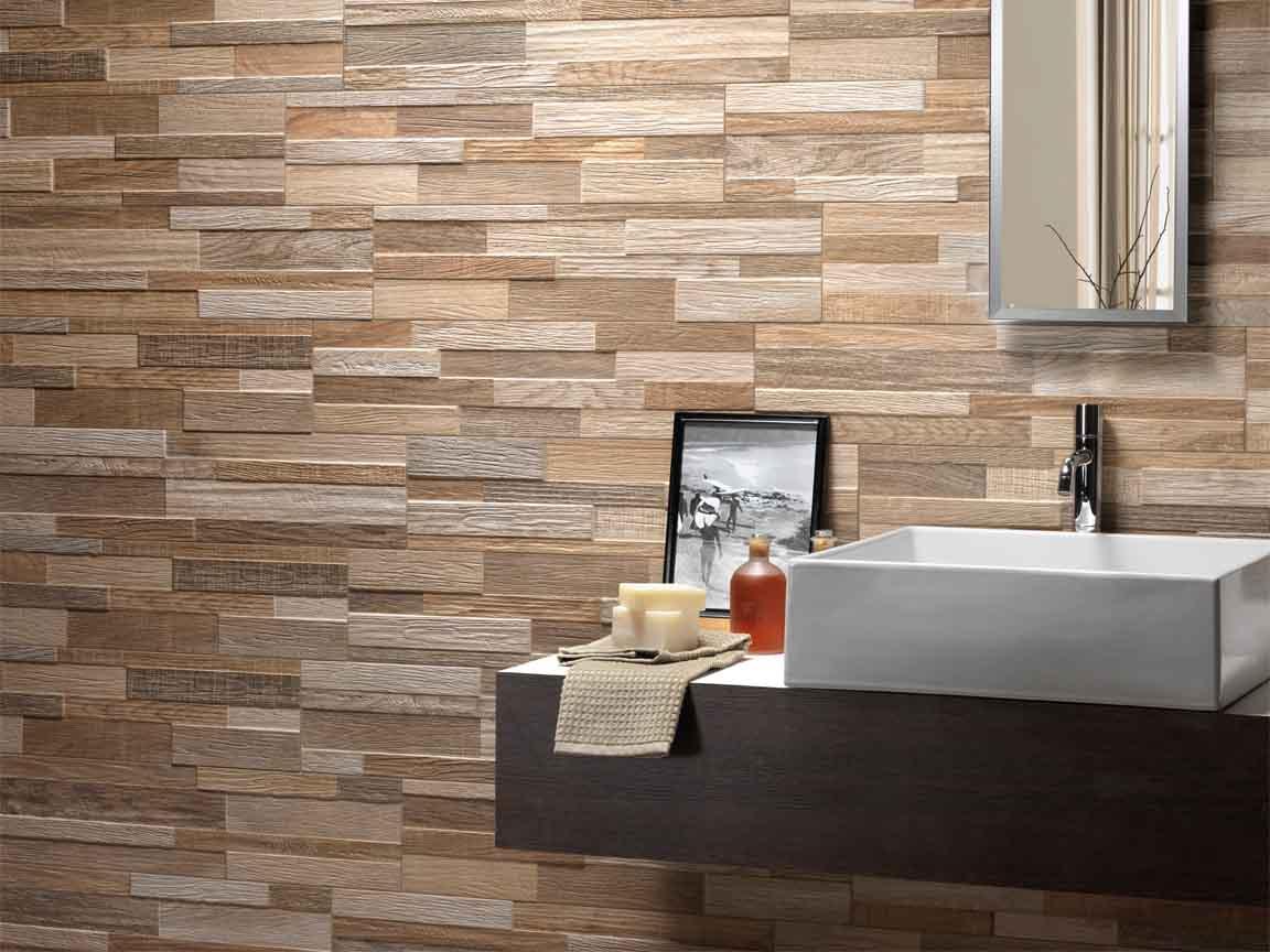 Holzoptik als Wandfliese - ideal für das Bad oder im Wohnraum
