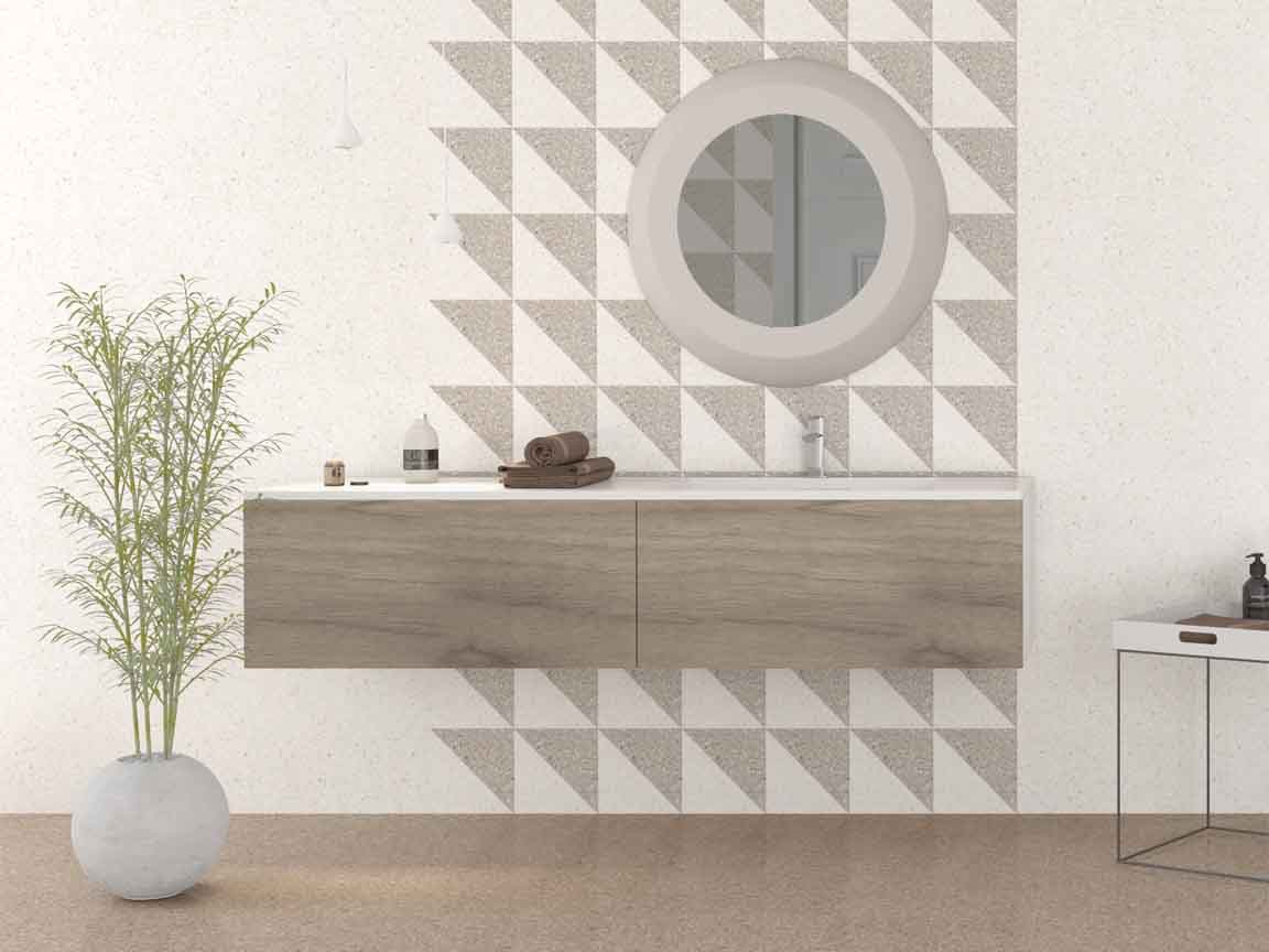Terrazzo-Look im Bad? Kein Problem und ohne Imprägnierung möglich