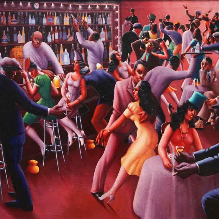 Nightlife von Archibald Motley (gesehen im Art Institut Chicago)