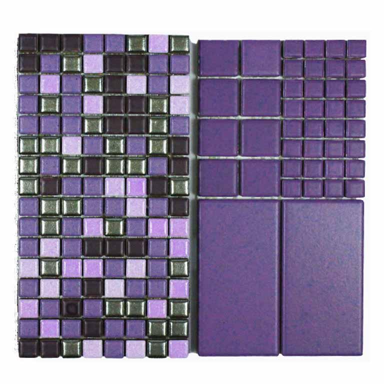 Mosaik im Farbton Ultraviolett als Mischung oder uni
