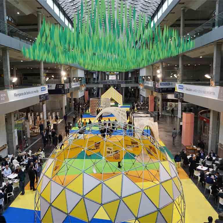 Die Fliesenmesse Cevisama 2018 in Valencia