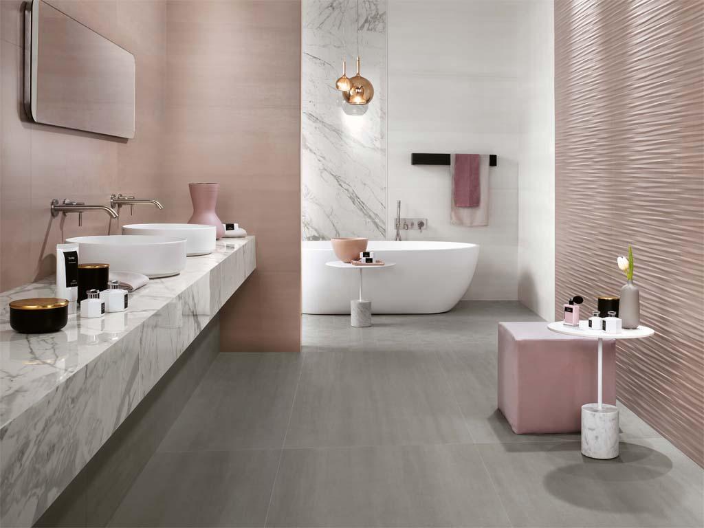 Kombination aktueller Wohnfarben mit Marmor