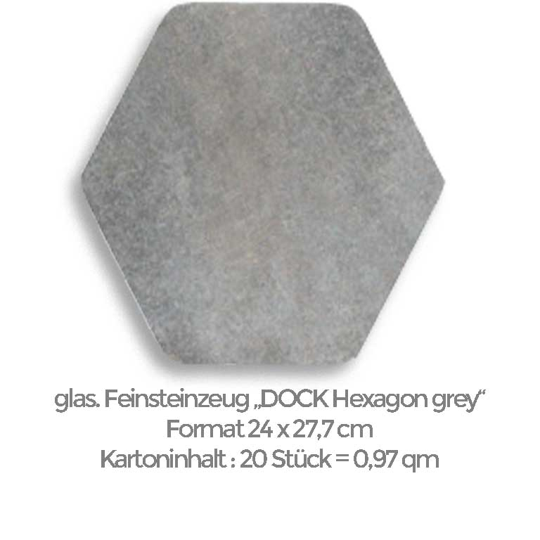 graue Hexagon-Fliese