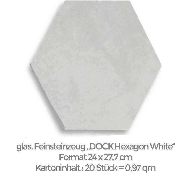 weiße 6eck-Fliesen