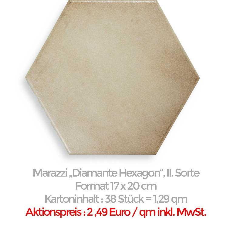 Marazzi Diamante Hexagon zum Sonderpreis