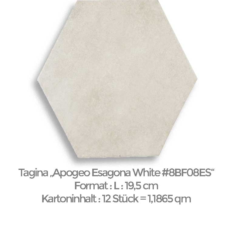 Tagina Apogeo Esagona White