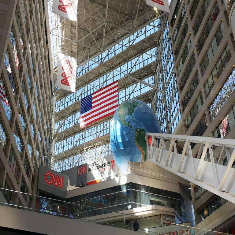 CNN Studio in Atlanta in den USA