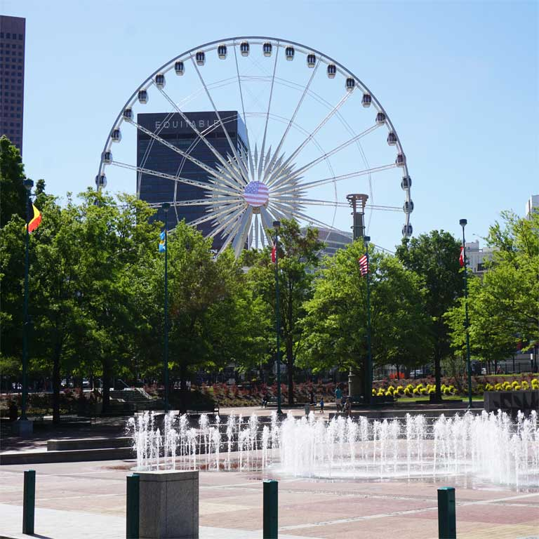 Centennial Olympic Park in Atlanta Downtown