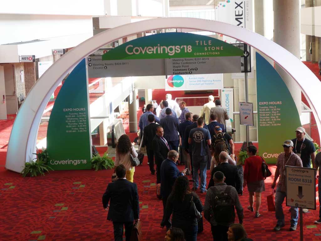 Die Fliesenmesse COVERINGS 2018 im Georgia World Congress Center ist eröffnet