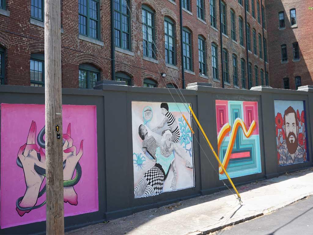 Stacks Square Mural Project für Straßenkunst in Atlanta