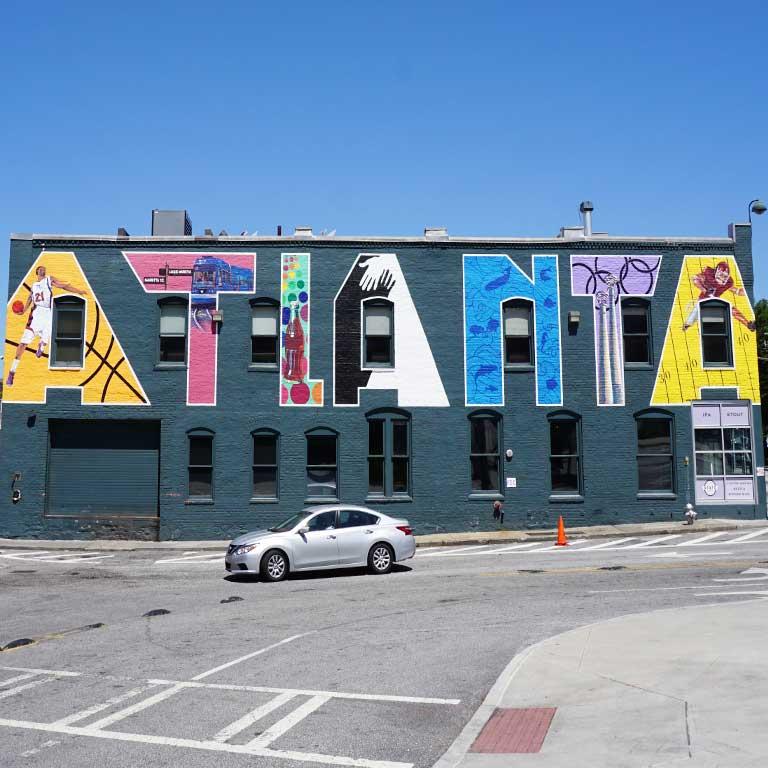 """Mural """"ATLANTA"""" in Atlanta in Georgia, USA"""