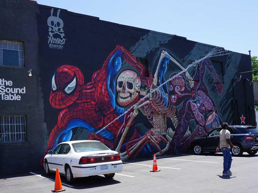 In den Straßen von Atlanta kann man viel Street Art entdecken