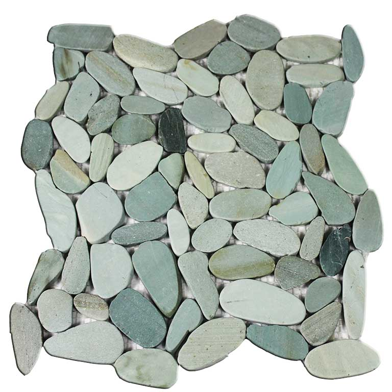 Mosaike aus Kieselsteinen bringen Natürlichkeit in Ihr Bad