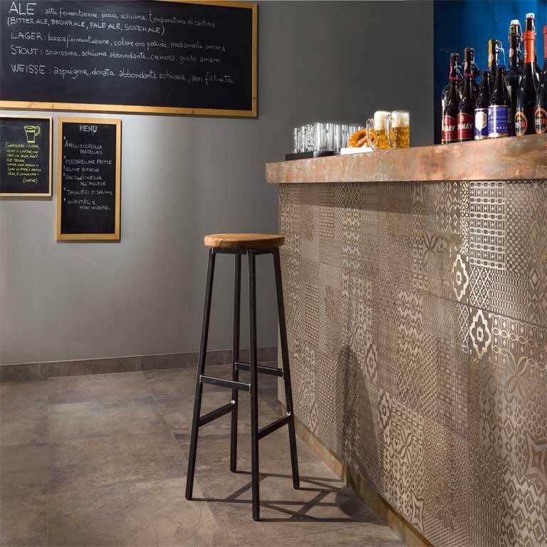 Das Highlight in jeder Bar : Fliesen mit Patchwork-Muster