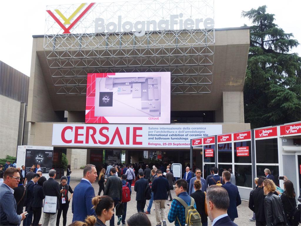 Die Fliesenmesse Cersaie in Bologna ist wirklich riesig !