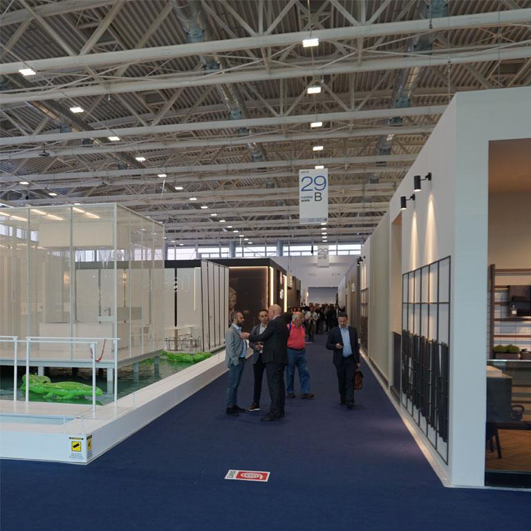 Die neuen Messehallen waren zur Cersaie 2018 bereits fertiggestellt