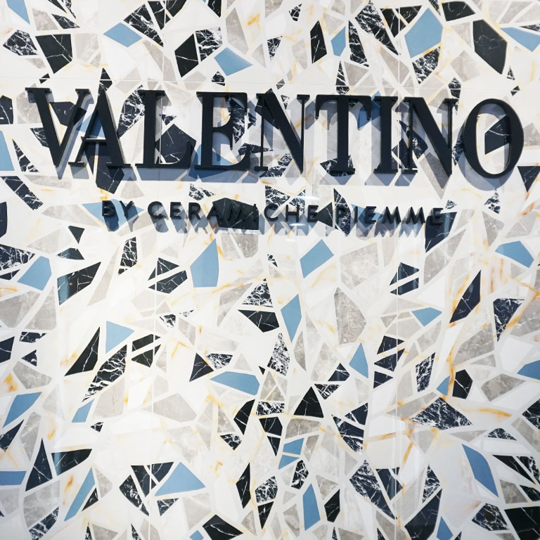 Terrazzo-Optik by Valentino auf der Fliesenmesse CERSAIE 2018