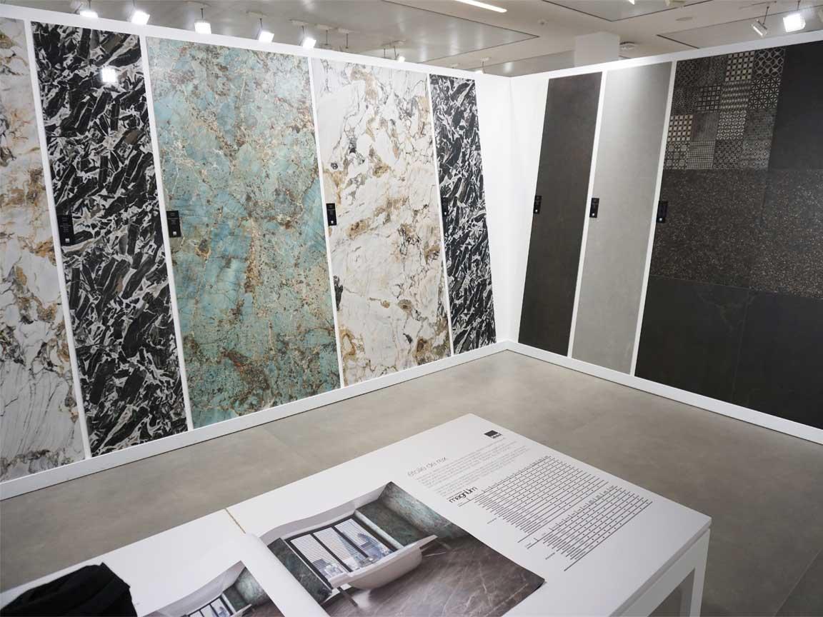 exklusive Marmoroptiken in der Florim-Gallery