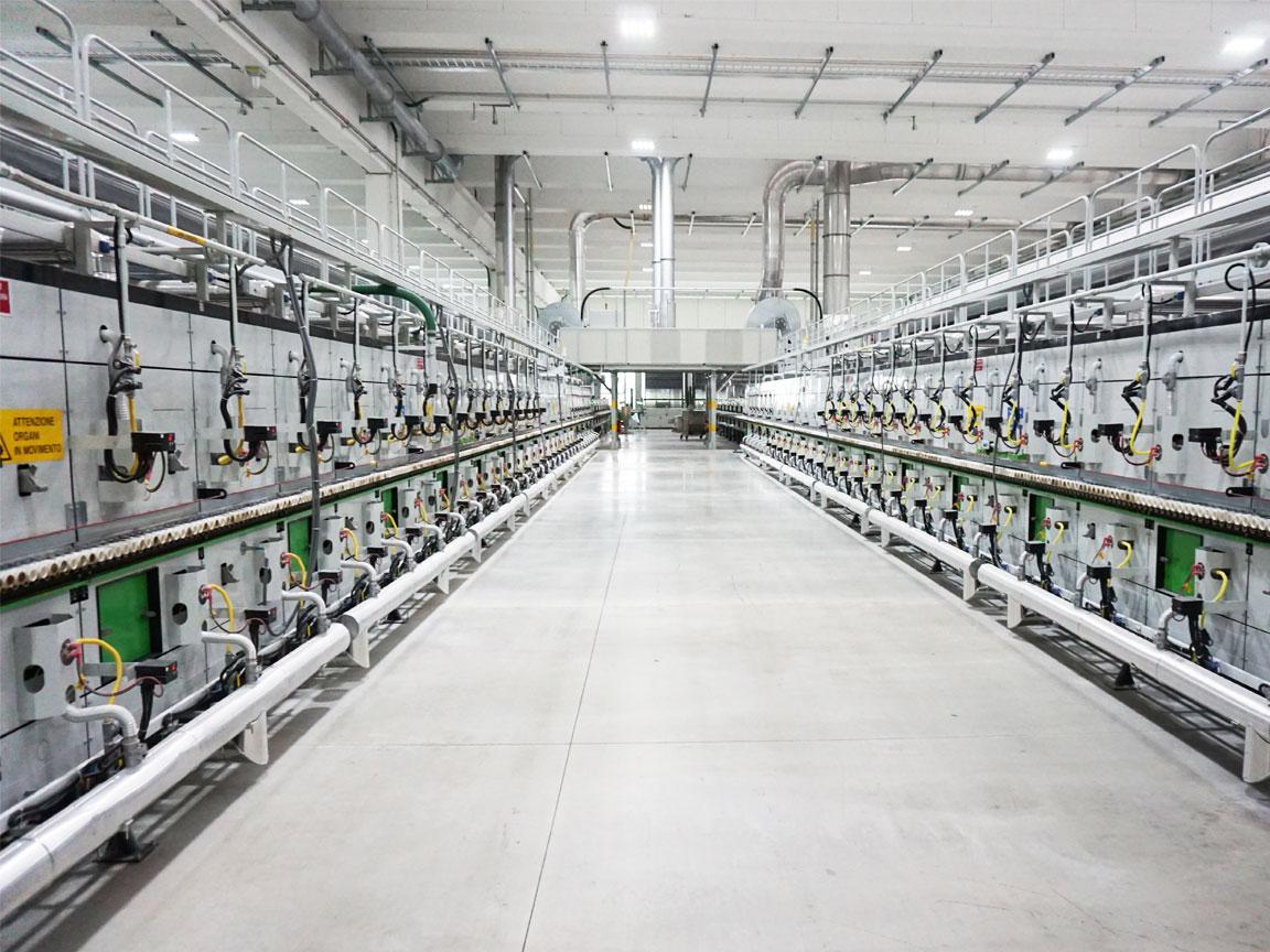 effiziente Ofenanlage im MAGNUM-Werk in Italien