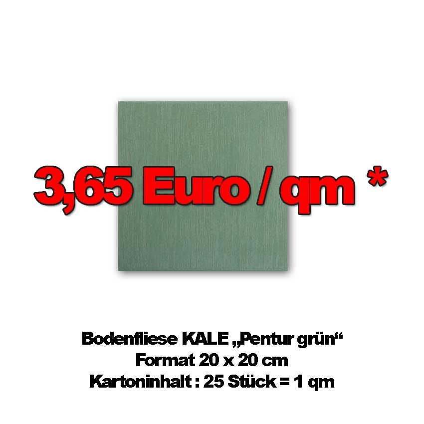 """Bodenfliese KALE """"Pentur grün"""""""