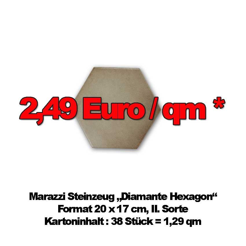 """Bodenfliese Marazzi """"Diamante Hexagon"""""""