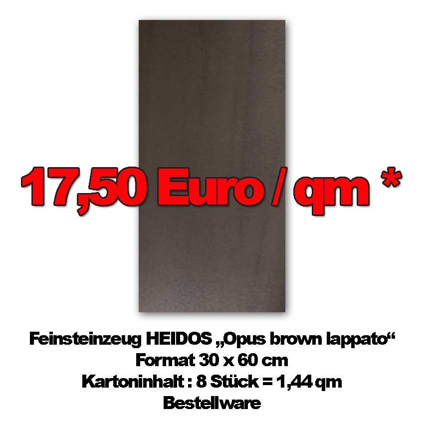 """Bodenfliese HEIDOS """"OpusBrownLapp"""" im Preis reduziert"""