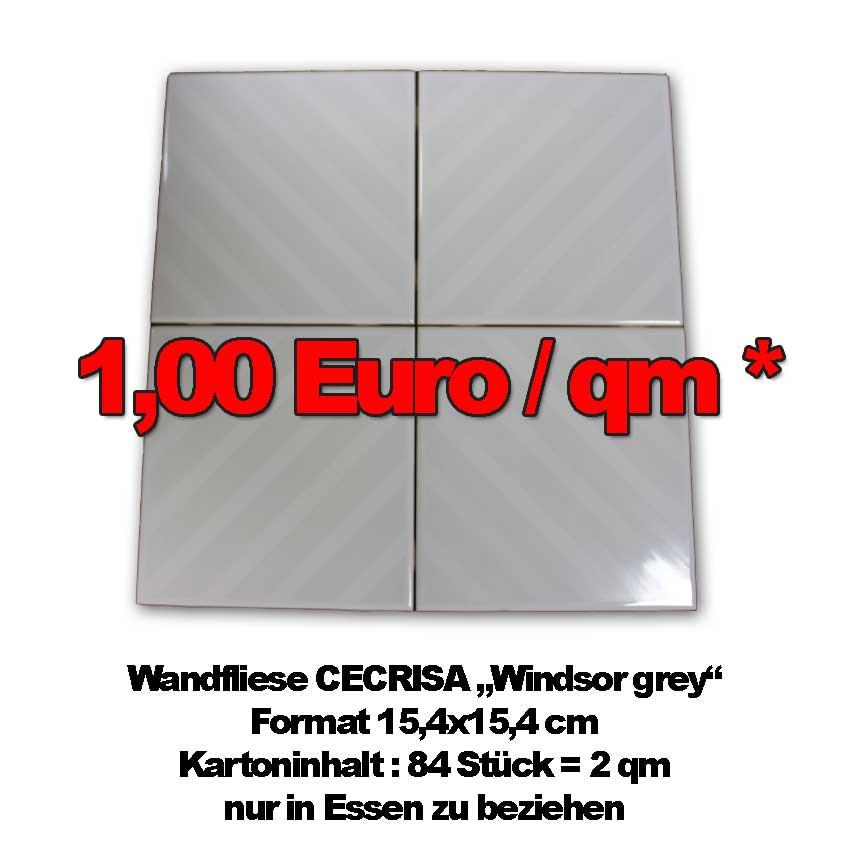 "1-Euro-Fliese ""Windsor Grey"""