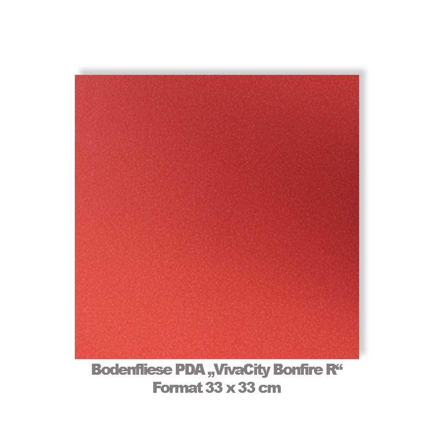 Bodenfliese PDA Bonfire in der Trendfarbe Pantone 16-1546