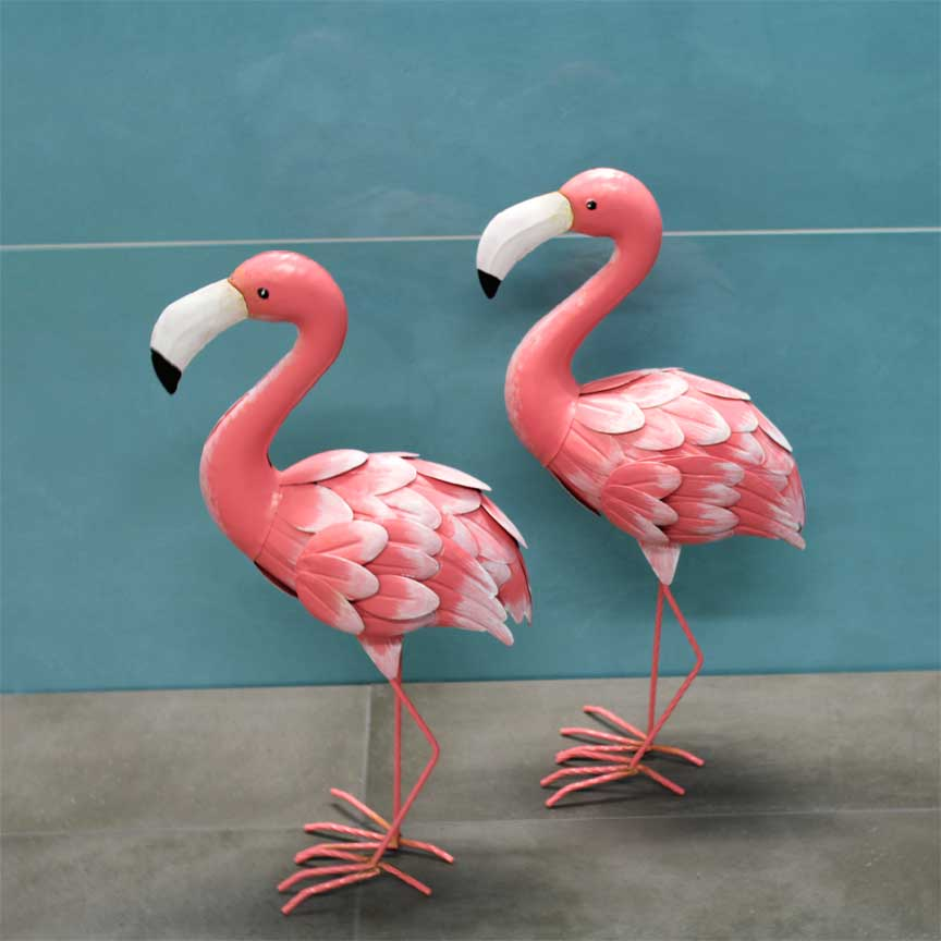 Flamingo Dekoration im Farbton Living Coral