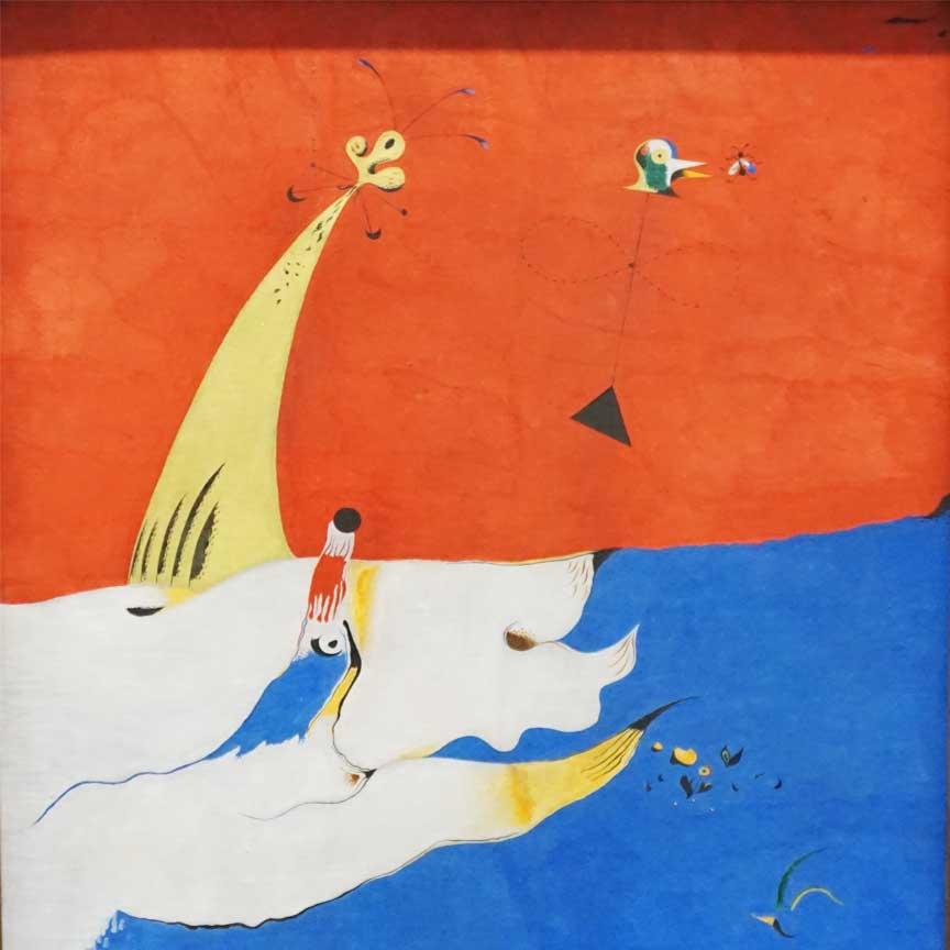 Landschaft von Joan Miró - gesehen im Folkwang-Museum in Essen