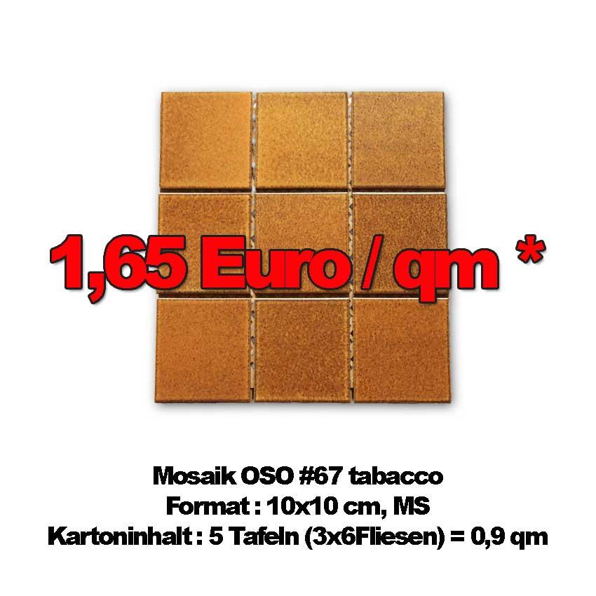 Mosaikfliesen OSO #67 , MS zum Sonderpreis von nur 1,65 Euro/qm !